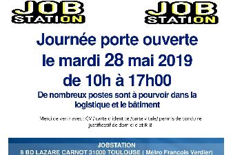 JOB STATION: JOURNEE PORTE OUVERTE, le mardi 28 mai 2019 de 10h à 17h